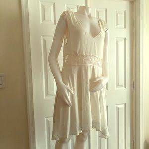 Free People White Lace Dress Medium